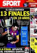 Portada diario Sport del 14 de Febrero de 2014