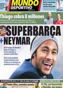 Portada Mundo Deportivo del 14 de Febrero de 2014