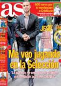 Portada diario AS del 15 de Febrero de 2014