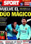 Portada diario Sport del 15 de Febrero de 2014