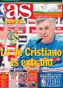 Portada diario AS del 16 de Febrero de 2014