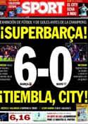 Portada diario Sport del 16 de Febrero de 2014