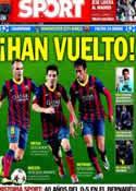 Portada diario Sport del 17 de Febrero de 2014