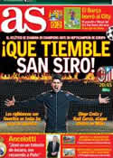 Portada diario AS del 19 de Febrero de 2014