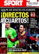 Portada diario Sport del 19 de Febrero de 2014
