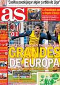 Portada diario AS del 20 de Febrero de 2014