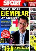 Portada diario Sport del 21 de Febrero de 2014