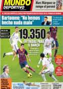 Portada Mundo Deportivo del 21 de Febrero de 2014