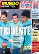 Portada Mundo Deportivo del 22 de Febrero de 2014