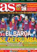Portada diario AS del 23 de Febrero de 2014