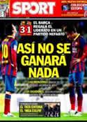 Portada diario Sport del 23 de Febrero de 2014