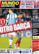 Portada Mundo Deportivo del 23 de Febrero de 2014