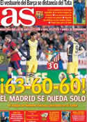 Portada diario AS del 24 de Febrero de 2014