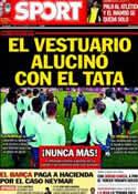 Portada diario Sport del 24 de Febrero de 2014