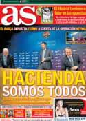 Portada diario AS del 25 de Febrero de 2014