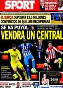 Portada diario Sport del 25 de Febrero de 2014