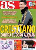 Portada diario AS del 26 de Febrero de 2014