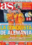 Portada diario AS del 27 de Febrero de 2014