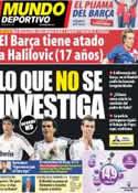 Portada Mundo Deportivo del 27 de Febrero de 2014