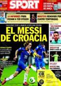 Portada diario Sport del 28 de Febrero de 2014
