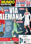 Portada Mundo Deportivo del 28 de Febrero de 2014