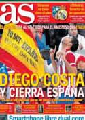 Portada diario AS del 1 de Marzo de 2014