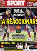Portada diario Sport del 2 de Marzo de 2014