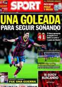 Portada diario Sport del 3 de Marzo de 2014