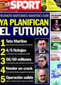 Portada diario Sport del 7 de Marzo de 2014