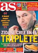 Portada diario AS del 8 de Marzo de 2014