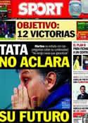 Portada diario Sport del 8 de Marzo de 2014