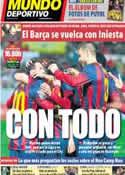 Portada Mundo Deportivo del 8 de Marzo de 2014