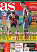 Portada diario AS del 9 de Marzo de 2014