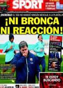 Portada diario Sport del 10 de Marzo de 2014
