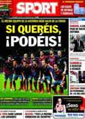 Portada diario Sport del 11 de Marzo de 2014