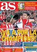 Portada diario AS del 12 de Marzo de 2014