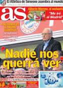 Portada diario AS del 13 de Marzo de 2014