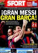 Portada diario Sport del 13 de Marzo de 2014