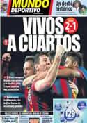 Portada Mundo Deportivo del 13 de Marzo de 2014