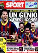 Portada diario Sport del 14 de Marzo de 2014