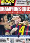 Portada Mundo Deportivo del 14 de Marzo de 2014