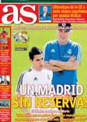 Portada diario AS del 15 de Marzo de 2014