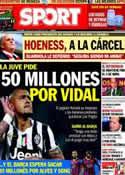 Portada diario Sport del 15 de Marzo de 2014
