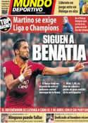 Portada Mundo Deportivo del 15 de Marzo de 2014