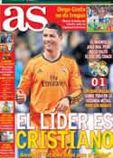 Portada diario AS del 16 de Marzo de 2014