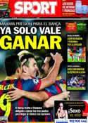 Portada diario Sport del 16 de Marzo de 2014
