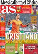 Portada diario AS del 17 de Marzo de 2014
