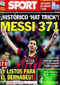 Portada diario Sport del 17 de Marzo de 2014