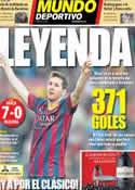 Portada Mundo Deportivo del 17 de Marzo de 2014