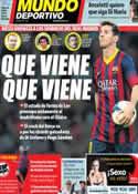 Portada Mundo Deportivo del 18 de Marzo de 2014